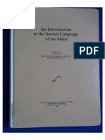 An introduction to the Sacred Language of Sikhs by Christopher Shackle