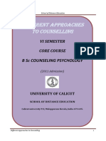 B Sc Counselling Psychology - VI Sem. Core Course - Different Approaches to Counselling