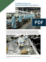 Proceso Manufactura de Componentes de PC