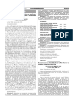 Resolución ministerial que oficializa el alfabeto de la lengua amazónica urarina
