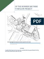 Timeline of the Humber Bay Park East Pavilion Project
