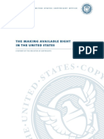 Making Available Right Report from U.S. Copyright Office
