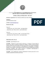 Programa TGP - 1º Semestre 2016 - Prof. Bedaque - Turmas 13 e 14