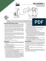 Linear WA105DBZ-1 - Z-Wave Siren Install Guide