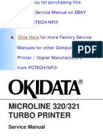 Oki Microline Ml320, Ml321 Turbo Service Manual