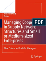 Managing Cooperation of Supply Network Structures & Small or Medium Sized Enterprises-Main Criteria & Tools for Managers-Villa