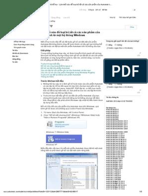 07-Loại Bỏ Tất Cả Các Sản Phẩm Của Autodesk Từ Một Hệ Thống Windows