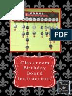 Birthday Board Classroom Display