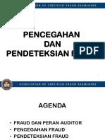 Pencegahan Dan Pendeteksian Fraud