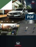 Catalogo Especificaciones Automovil Civic Sedan Coupe Honda 2015