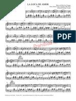 La loca de amor. Partitura para piano.