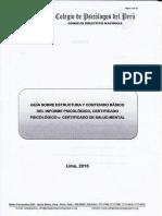 Guia Sobre Estructura y Contenido Básico Del Informe Psicológico y Certificado de Salud Mental.