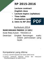 Pertemuan 01 (2) Rancangan Pabrik (12 Agustus 2015)
