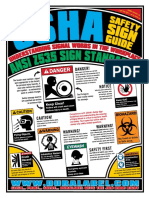 OSHA Safety Sign 8.5x11 Poster