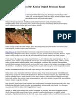 Tips Menyelamatkan Diri Ketika Terjadi Bencana Tanah Longsor