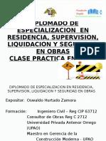 Modulo Clase Practica en Obra Residente y Supervisor