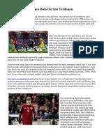 Tips Menyeleksi Agen Bola On line Terdepan