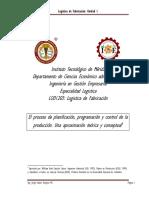 LF101 El Proceso de Planeacion de La Produccion