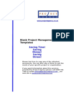 Blank Project Management Templates1010