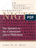 The Epistles to the Colossians and to Philemon. a Commentary on the Greek Text (New International Greek Testament Commentary) -Eerdmans