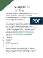 Funciones Rápidas de Teclado Del Mac