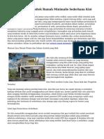 Teknik Mencari Arsitek Rumah Minimalis Sederhana Kini