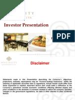 Investor Presentation - February 2016 [Company Update]