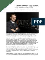 Axis Nombra a Andrei Junqueia Como Gerente de Ventas Para America Del Sur