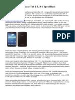Harga Samsung Galaxy Tab E 8. 0 & Spesifikasi