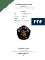 Laporan Praktikum Analisis Material Tema