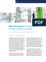 Back to Basics Creating Value Through Superior Products