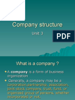 Company Structure,New