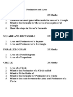 Test on Perimeter and Area
