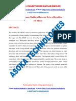 High-performance Multilevel Inverter Drive of Brushless DC Motor