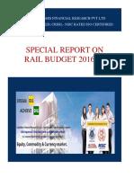 Rail Budget 2016-17 Highlights