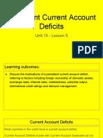 unit 15 - lesson 5 - persistent current account deficits