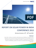 Report on Solar Power In India 2015.pdf