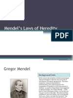Mendels Laws of Heredity