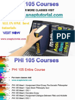 PHI 105 Proactive Tutors/snaptutorial