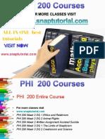 PHI 200 Proactive Tutors/snaptutorial
