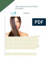 Cara Meluruskan Rambut Secara Alami Menggunakan Seledri