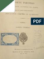 Alfonso X - Las Siete Partidas. Tomo I