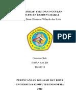 Identifikasi Sektor Unggulan Kabupaten Bandung Barat