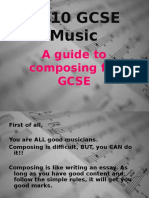 GCSE Music Composing Help
