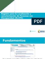 Registros de Discapacidad (2015) (RLCPC)