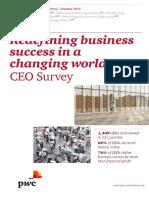 Pwc 19th Annual Global Ceo Survey