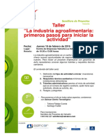 Taller Industria Agroalimentaria