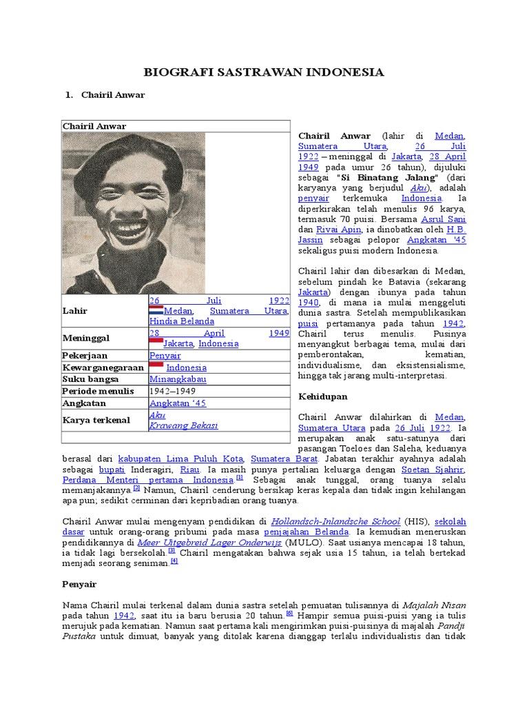 Biografi Sastrawan Indonesia Gerr Karya Putu Wijaya Balai Pustaka 1542354267v1
