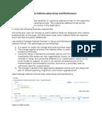 Customize Address Using Setup and Maintenance