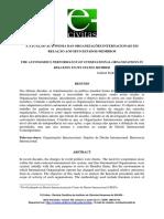 A ATUAÇÃO AUTÔNOMA DAS ORGANIZAÇÕES INTERNACIONAIS EM  RELAÇÃO AOS SEUS ESTADOS - MEMBROS